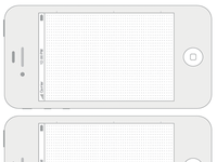 Free Printable iPhone 4 & 4s Templates
