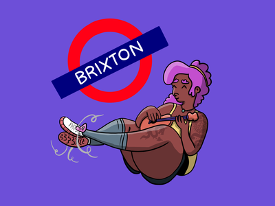 Brixton Musician character united kingdom uk ukulele cute procreate london illustrator illustration
