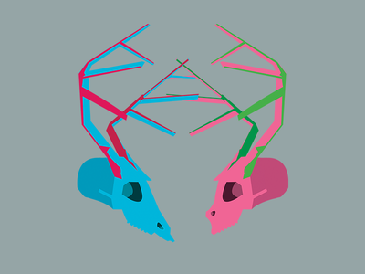A Strange Kind of Love illustration skull antlers illustrator