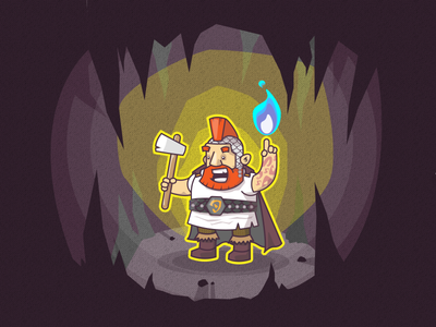 Lvl 3 Dwarf Cleric fantasy character cleric dnd dungeons and dragons fire illustration dwarf