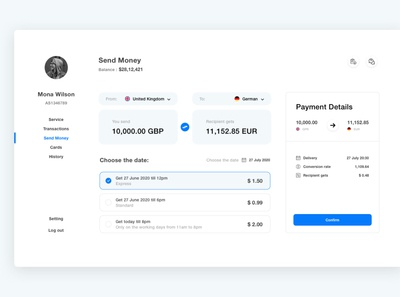 money transfer typography ux design ui theme screen iconography color