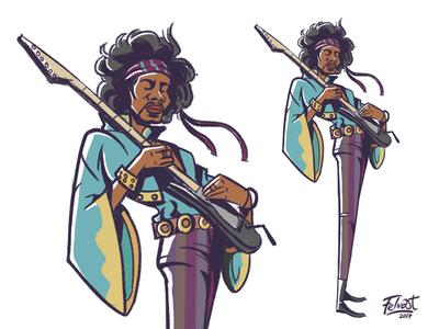 The Jimi Hendrix Experience Cartoon design