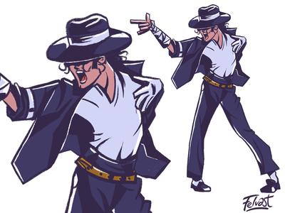 Michael Jackson - Smooth Criminal Cartoon fanart avatar illustration character design cartoon music