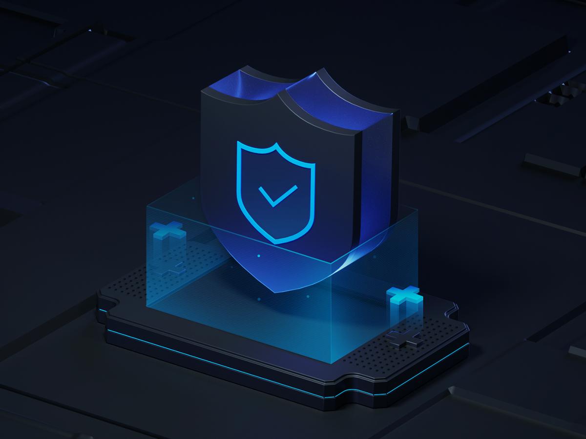 Game security design icon octane c4d