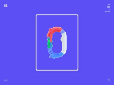 Characters Number Design-Zero