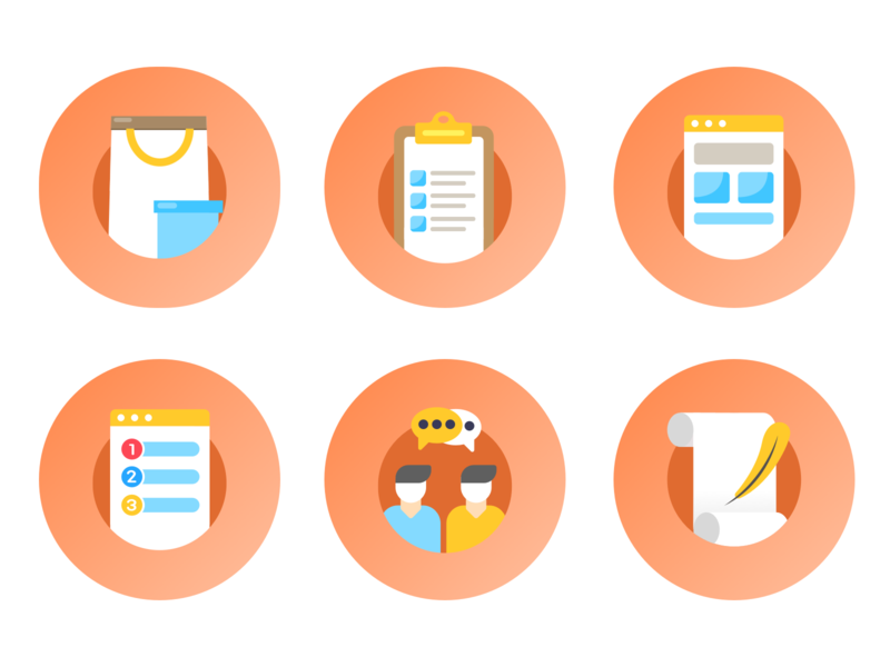Icons for TapChief Workspace Onboarding vector branding landing page iconography icon design icon set icon design illustration remote work web design ui