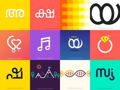 30 Days of Malayalam Letters icon css html typogaphy design illustration