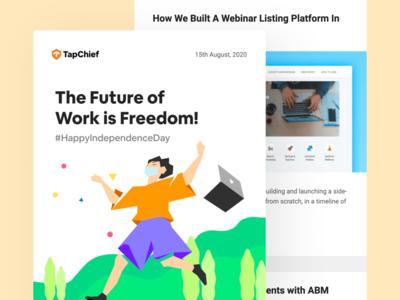 TapChief Newsletter: 15th August 2020 email design ui design remote work web design illustraion newsletter template newsletter design