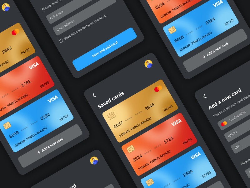 Daily UI Challenge - Day 002 credit card checkout creditcard visual design ux ui concept app mobile ui day002 daily 100 challenge dailyuichallenge dailyui