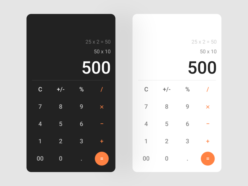 Daily UI Challenge - Day 004 concept visual design calculator design ux ui dailyuichallenge dailyui