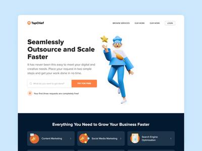 TapChief Unlimited - Landing Page Sneak Peek design visual design web design concept landing page illustration ux ui