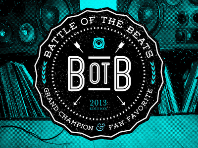 Vinyl album art for Battle of the Beats