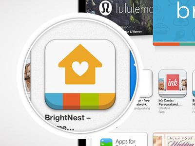 BrightNest iOS App Icon (in App Store)