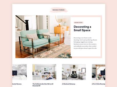 Blog re-design for Havenly