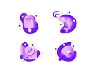 Summer gradient icons