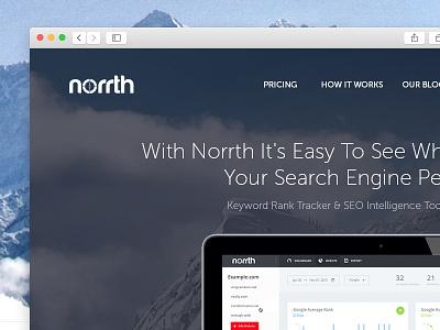 Norrth Landingpage norrth seo landingpage search engine tool homepage web mountain minimalist
