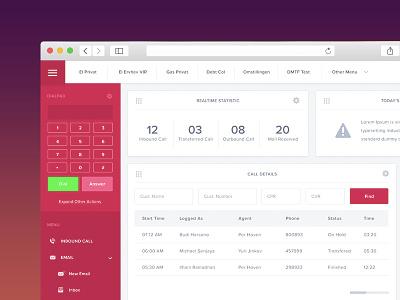 CCDesktop Dashboard admin minimal agent dashboard web ux ui flat