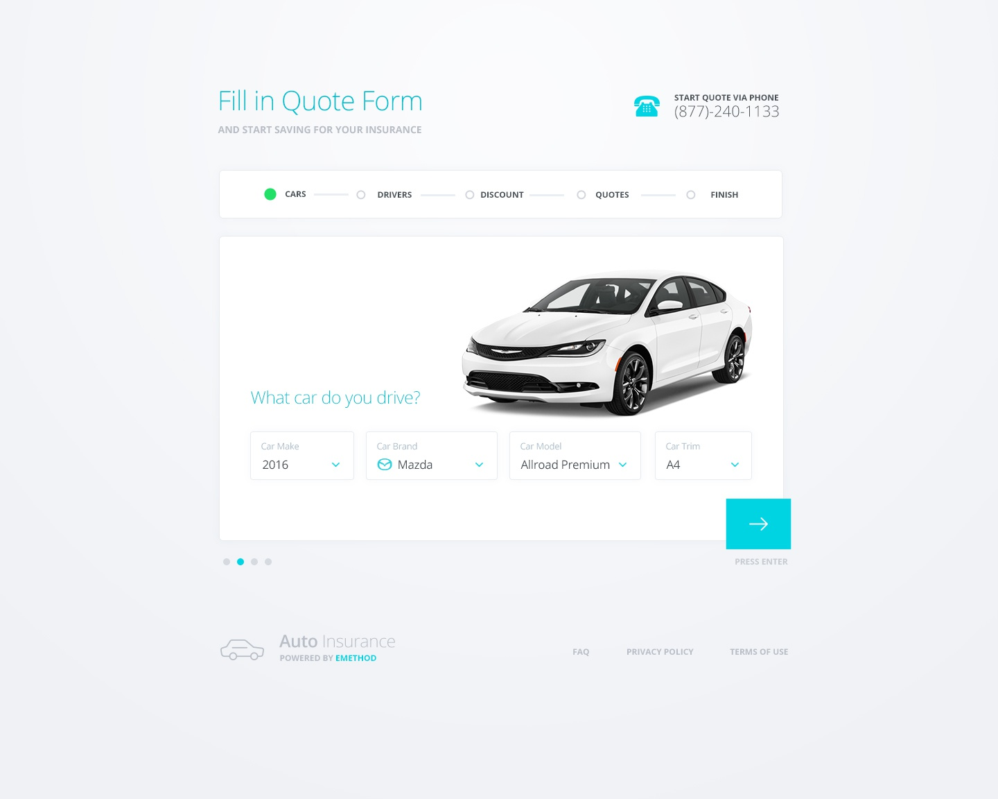 Auto Insurance Quote Engine by Faiz Al-Qurni on Dribbble