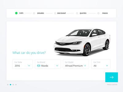 Auto Insurance Quote Engine ux ui web business step form commercial insurance car auto
