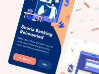 Islamic Finance App Onboarding money walkthrough onboarding islamic finance illustration ecommerce ios flat mobile design app web ux ui