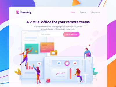 Remote Tools Landingpage Design