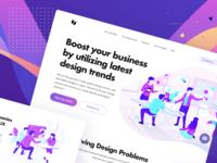 Design Startup Landingpage presentation office workspace team startup studio agency homepage illustration landingpage mobile design web ux ui