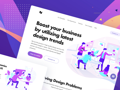 Design Startup Landingpage presentation office workspace team startup studio agency homepage illustration landingpage mobile design web ux ui