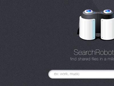 SearchRobot web design apps robot binocular search engine