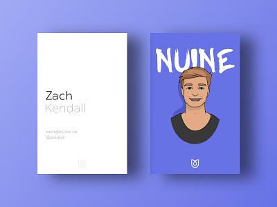 Nuine brand : Business cards #1 white space illustration business cards logo business card card branding bizness