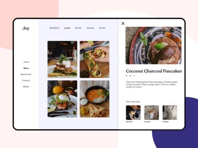 Joy - Restaurant Page