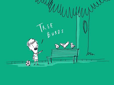 #IrishPeopleTalkFunny soccer burds birds tree eire ireland green sketch illustration comic funny talk people irish
