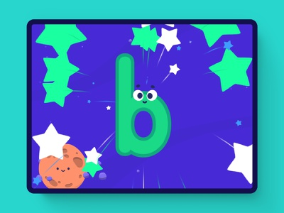 Space Trace! sketch reading curriculum education edu tech learning letters vector illustration ux ui game unity 2d
