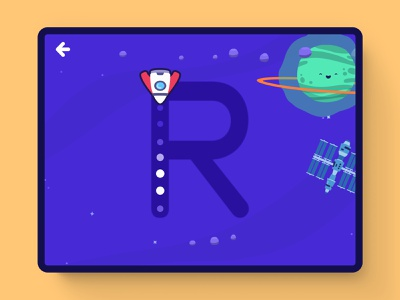 Space Trace! ui ux sketch letters curriculum education edu tech learning game unity 2d