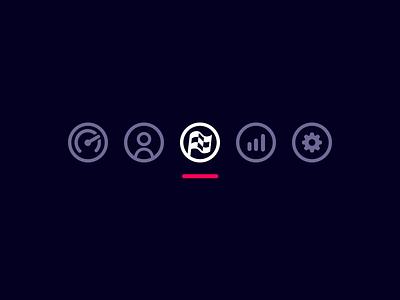 icons! (on dark surface) dark light material design admin icon vector logo clean html ux sport app illustration ui motorsport