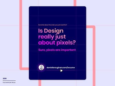 Daniel Broughan Resume vector ux ui product design clean modern pixels design sketch daniel broughan cv resume