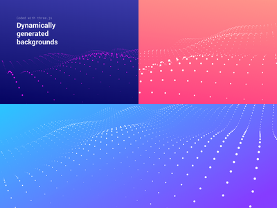 Dynamically generated backgrounds threejs canvas html js css gradient mountains hills lines pattern terrain dots futuristic ai background generated dynamic