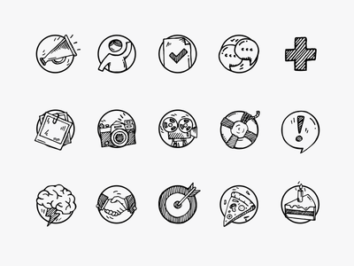 Event Application Icons Set hand made hand drawn usemo sketch pencil set icons icon drawing
