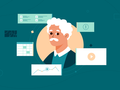 Grandpa design motion 2d hospital medicine flat cartoon illustration animation infographic health people grandpa character