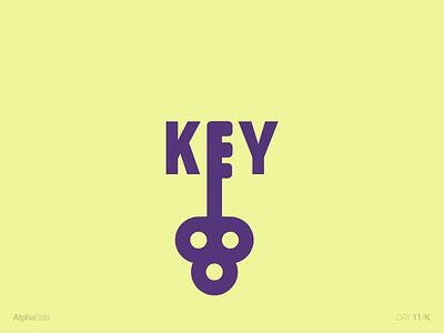 AlphaBeta - Day11 / K typography english alphabet letters alphabeta key k