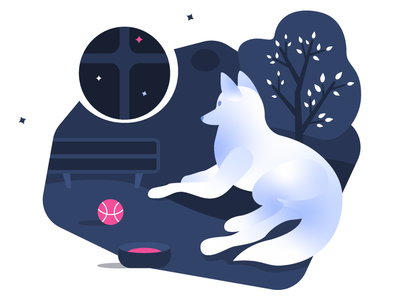 _w8dog nature waiting dribbble ball dribbble dog practice illustration