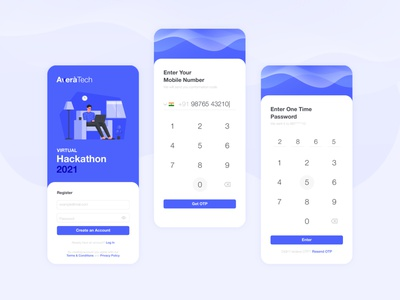 Avera Tech Hackathon - Sign Up UI Design login signup layout event modern application app screen interface design ux ui