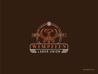Wimpffen Logo Design lineart union laborday laborlogo hammer logo wimpffen