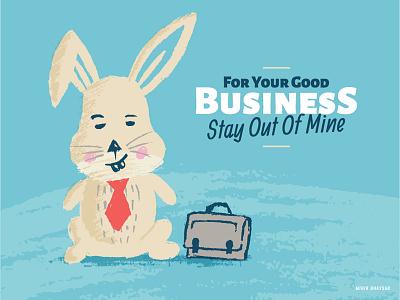 Rabbit Illustration vector illustration business drwan handdrwan office bunny rabbit
