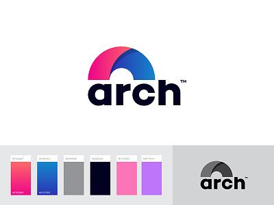 Arch Logo Concept minimal creative a alogo mihir design brand circle logo arch