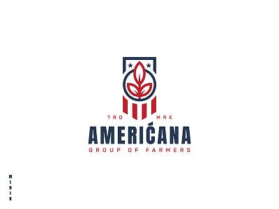 Americana Logo mihir circle sheild art symbol logo america us leaf usa americana
