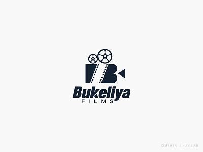 Bukeliya Films Logo logo a day reel camera production film bukeliya typography mihir illustration logo