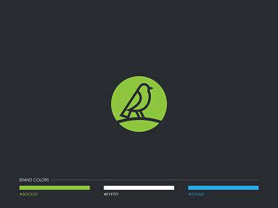Wheatear Logo mihir agency branding green minimal animal bird logo