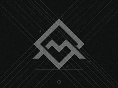M Mark (Personal Logo Design) indentity brand minimal minimalmark typeface concept logo design grid grid logo m letter mlogo m mark logo icon