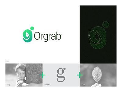 Orgrab Branding Design design mihir agriculture glogo g leaf organic identity brand branding orgrab logo