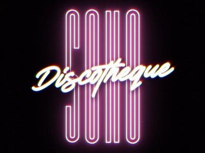 💃 SOHO discotheque🕺 music dance disco logotype branding logo logo animation 2d typography motion motion design design animation